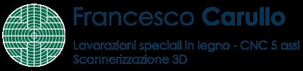 Logo Francesco Carullo lavorazioni speciali in legno: conto terzi, CNC 5 assi e scansione 3D